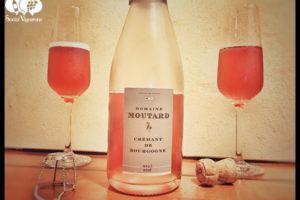 Domaine Moutard Crémant de Bourgogne Brut Rosé, Pink Sparkling Burgundy Wine