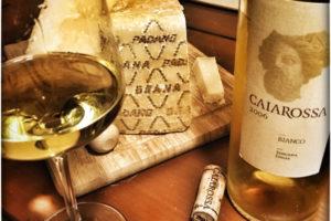 2006 Caiarossa Bianco, White Tuscan Wine with Grana Padano Cheese